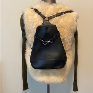 Dooney & Bourke Vintage Leather Hobo Backpack